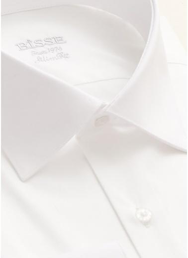 Bisse Bisse Gm20K22169 Regular Fit Düz Klasik Gömlek Beyaz